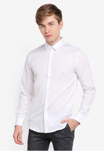 Electro Denim Lab white Luxurious Poplin Shirt EL966AA0SPC6MY_1