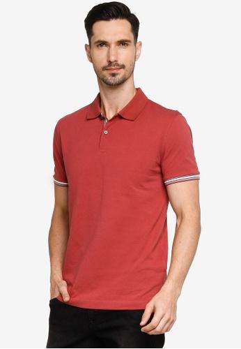Banana Republic red Core Temp Pique Polo Shirt C226EAAD7594CFGS_1