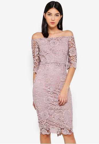 Paper Dolls pink Mink Bardot Dress 671F9AAB3D732FGS_1
