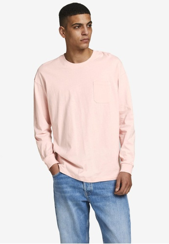 JACK & JONES pink Simple Long Sleeve T-Shirt 71F66AA8520EB8GS_1