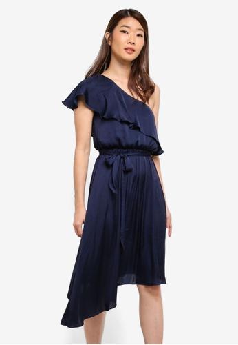 Bardot navy Waterfall Dress BA332AA0ST8SMY_1