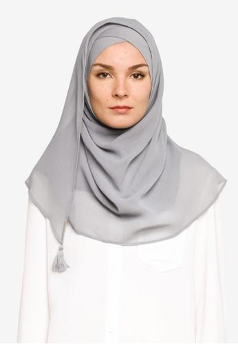 Bokitta grey Steel Instant Hijab 22396AA75BB933GS_1