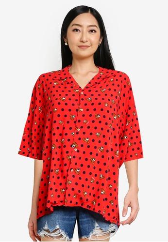 niko and ... red Viscose Printed Shirt 211E5AAB333559GS_1