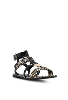 b7d7bcacca634 River Island Caged Gold Tone Sandals Php 4