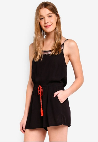 Dorothy Perkins black Coin Detail Beachwear Playsuit 39A68AA3A82912GS_1