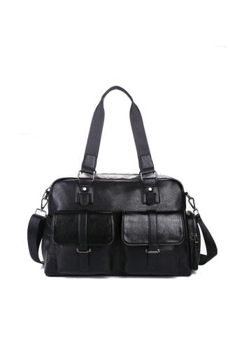 Lara black Front Pockets Duffle Bags For Men - Black 18CFAAC5AE283AGS_1