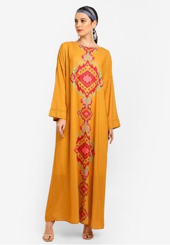 Tom Abang Saufi for ZALORA yellow Grace Kaftan 8CA6EAA89DA18DGS_1