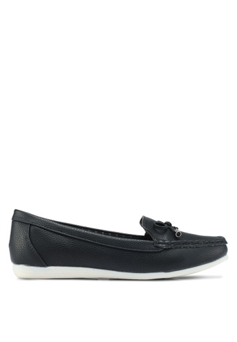 Bata 黑色 休閒懶人樂福鞋 9C7E6SHFEBB572GS_1