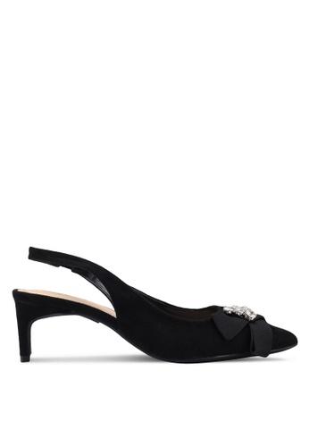 Something Borrowed black Sling back embellished heels 83D6BSHBEF7BEFGS_1