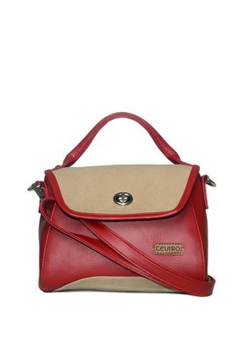 Ceviro red Zahra Hand Bag Sling Bag Cross Body Bag Teracota 021D6AC9ABBD4CGS_1