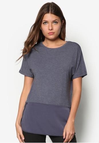 混合拼接短袖上衣, 服飾, 服zalora taiwan 時尚購物網飾