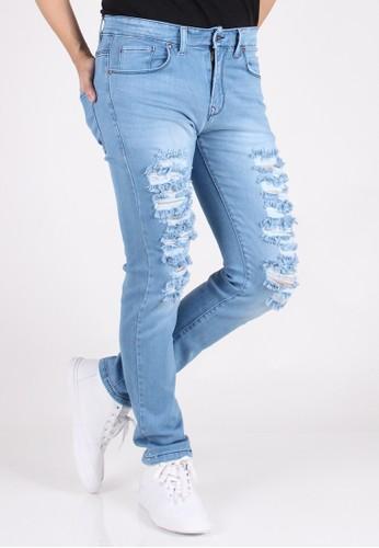 Meitavi's Menswear Skinny Sky Rip Off Stretch Soft Jeans