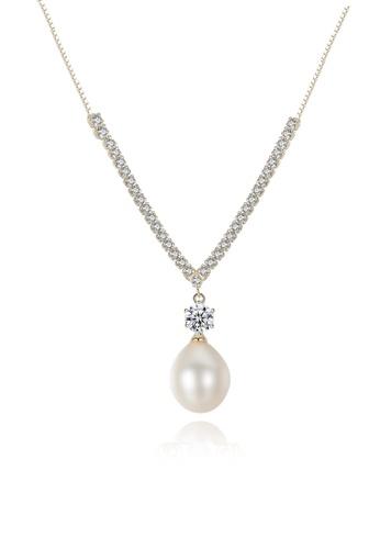 A.Excellence white Premium White Pearl Elegant Necklace BCE23ACC0DDC21GS_1