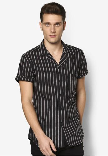條紋休閒短袖襯衫, esprit 會員卡服飾, 服飾