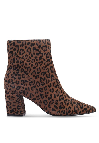 River Island brown Block Heel Point Toe Boots CB409SH16FC309GS_1