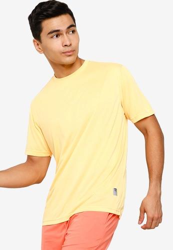 UniqTee 黃色 Slim 圓領T恤 03BDDAA234E910GS_1