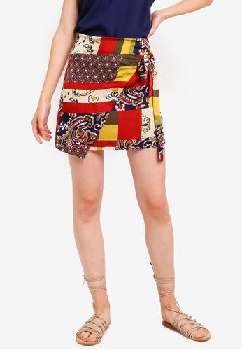 Something Borrowed 多色 綁帶交叉造型裙 C0488AA5C17F60GS_1