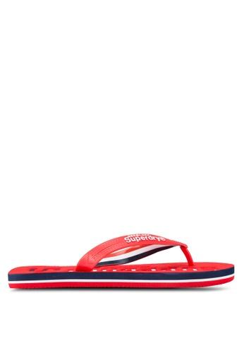 Superdry red Track & Field Flip Flops SU137SH00HVZMY_1