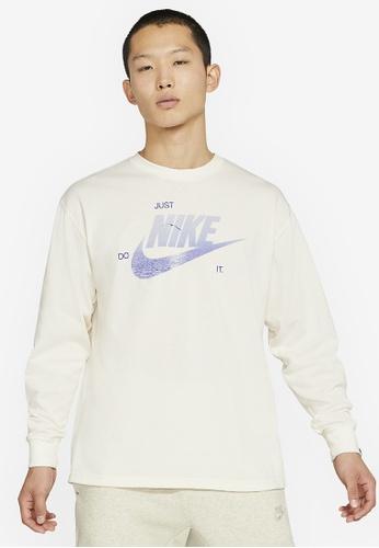 Nike white Men's Long-Sleeve M2Z Tee 7DC7BAA3D6A8D2GS_1