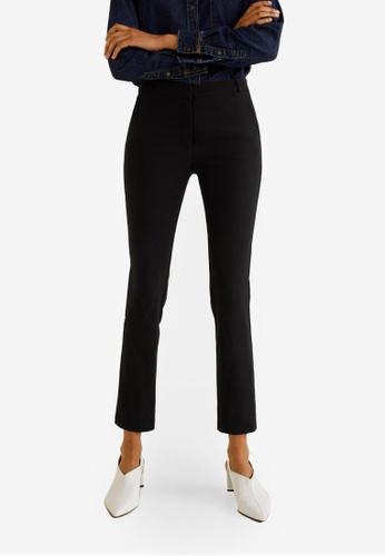 1ae6bfc4b4 Mango black Crop Slim-Fit Trousers 084ECAA05662D2GS 1