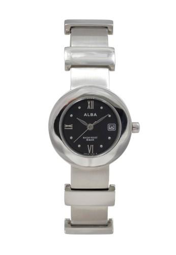 Alba silver ALBA Jam Tangan Wanita - Silver Black - Stainless Steel - AXTD95 835E0AC8C5873CGS_1