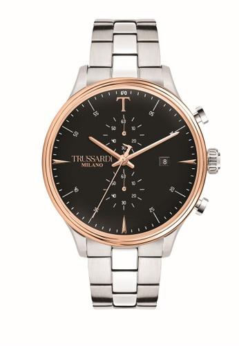 Trussardi silver Trussardi T-Complicity Silver Steel Chronograph Men's Watches R2473630002 319B9AC063B051GS_1