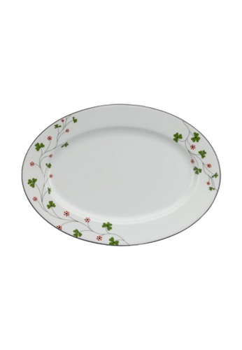 Minh Long I white Jasmine: Porcelain Oval Plate (32cm) 56DE0HL83F6F7BGS_1