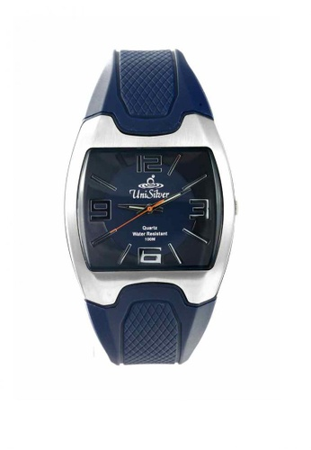 UniSilver TIME navy Flexor Men's Analog Rubber Strap Watch 811EAACE802502GS_1