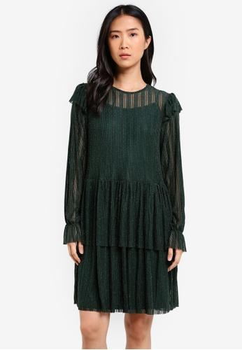 Y.A.S green Rita Long Sleeve Dress YA631AA0SE4NMY_1