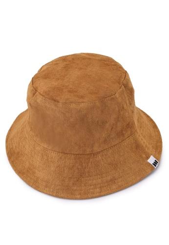 Milliot & Co. brown Tatum Reversible Bucket Hat 9FC98ACA4F45DBGS_1