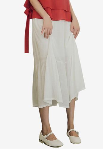 Shopsfashion white Basic Midi Skirt 80A86AAA87EC3FGS_1