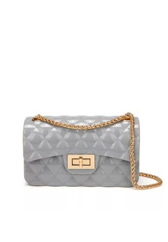 Lucky JX grey Valry Transparent Jelly Glitter Sling Bag 72257AC1F86F0CGS_1