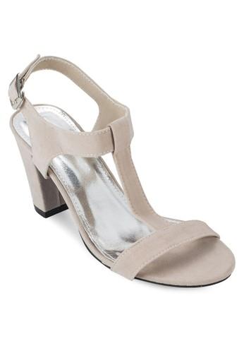 Keesprit 台北sha T 字帶繞踝高跟涼鞋, 韓系時尚, 鞋