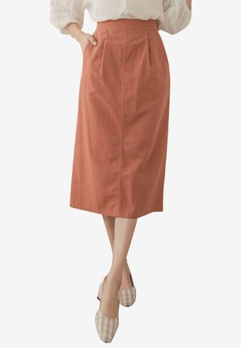 cb2ae9e31b Buy Kodz Plain High-Waisted Midi Skirt Online on ZALORA Singapore