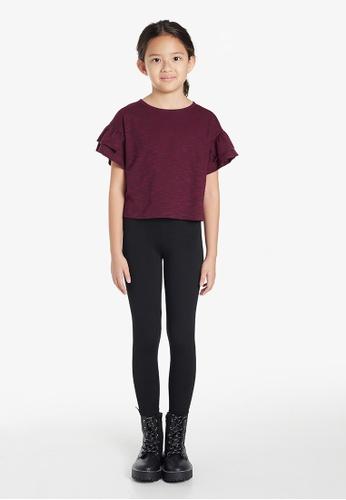 Gen Woo red Cropped Ruffle T-Shirt By Gen Woo 91A3BKAA79CDEEGS_1
