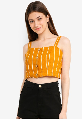 Cotton On gold Carla Button Front Tank Top 48706AA84FDD79GS_1