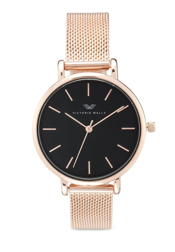 Victoria Walls Watches gold Designer Watch-Elegant Milanese Mesh Strap C6231ACF9F49E5GS_1