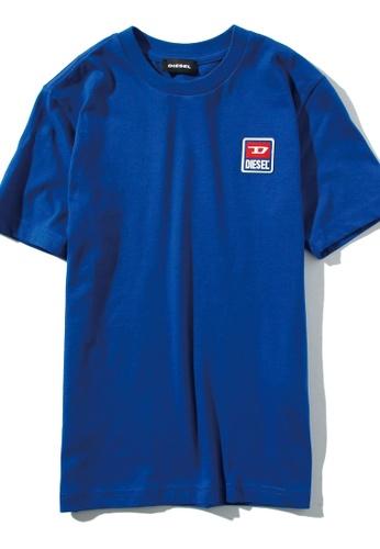 DIESEL blue Short Sleeve T-shirt 23B92KA4E10C25GS_1