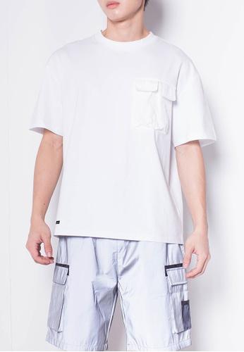 SUB white Men Short-Sleeve Woven Flap Pocket Fashion Tee 6AFE2AA5CCDAF9GS_1