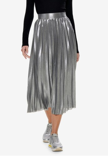 ONLY silver Hailey Pleated Skirt D1DC3AAB1BF704GS_1