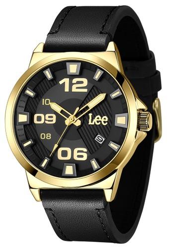 Lee Watches black Lee Watch M129AGL1-1G Jam Tangan Pria Lee Metropolitan Gents Kulit Hitam A70D0AC410AE64GS_1