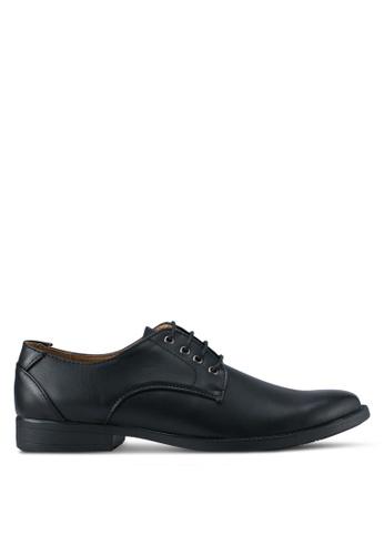 UniqTee black Dress Shoes With Stitch Detail UN097SH0SYSEMY_1