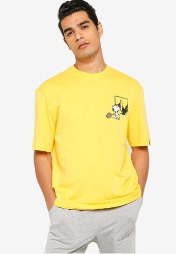 Puma yellow PUMA x PEANUTS Men's Tee 94A16AA45D19DBGS_1