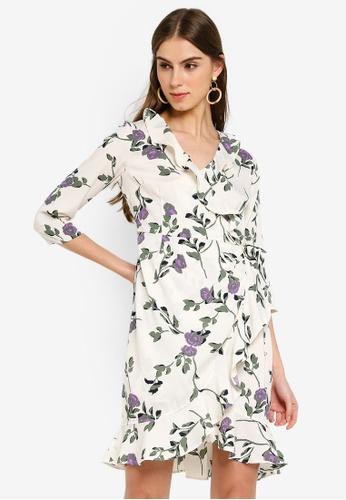f0532aad Buy Vero Moda Amsterdam Henna 3/4 Wrap Dress Online on ZALORA Singapore