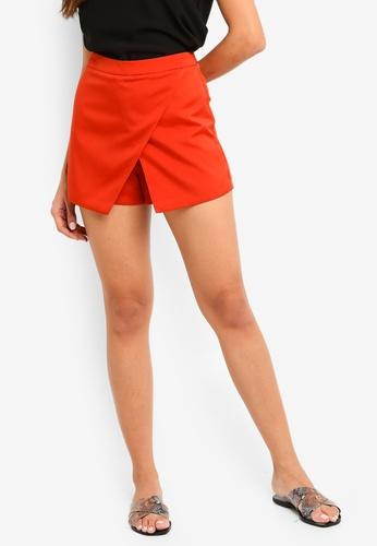 ZALORA orange Overlap Skorts BC866AAD01A083GS_1
