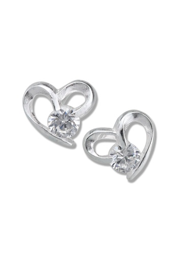 SC Tom Silver silver Heart Stud Stone Earrings-TESS028 SC872AC45OMKPH_1