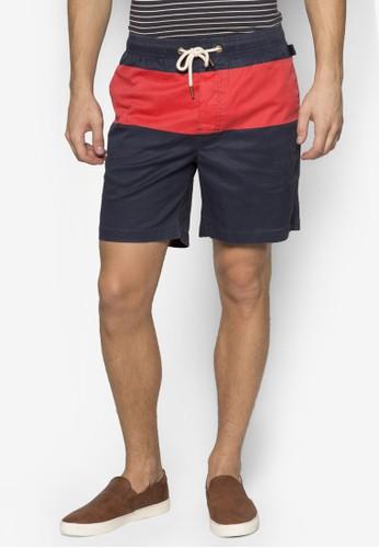 撞色拼接esprit 高雄衝浪短褲, 服飾, 運動