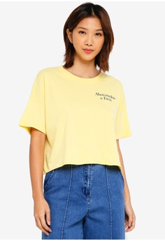 8ffd8aa44d6540 Abercrombie   Fitch yellow Drop Shoulder Top 6E04CAAD63456DGS 1