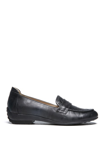 messe 黑色 優雅仕女氣質柔軟真牛皮輕盈舒適樂福鞋 ME601SH09Q4WTW_1