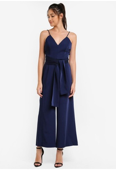 Tank Jumpsuit With Tie Ribbon